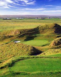 So close, but still so FAR! At Carne Golf Links, Belmullet County, Ireland #GolfCourseOfTheDay I Rock Bottom Golf #rockbottomgolf
