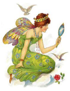 Vintage Image Art Deco Princess Fairy Furniture Transfers | Etsy Fairy Furniture, Doll Furniture, Media Images, Thing 1, Wooden Hangers, Vintage Images, Lights Background, Dark Backgrounds, Art Deco