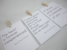 Cards with Love Quotes  Set of Three for by SacredandProfane, $16.50