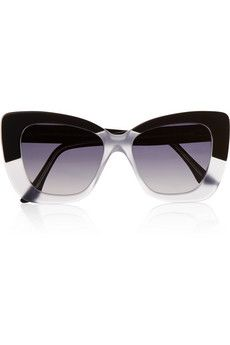 Cutler and Gross Cat eye matte-acetate sunglasses | NET-A-PORTER