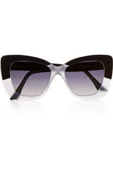 Cutler and Gross Cat eye matte-acetate sunglasses | NET-A-PORTER
