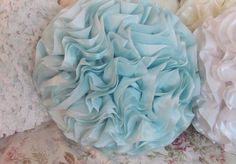 Aqua Blue Round ruffled Throw Pillow for your Romantic or shabby n chic Bedroom ,Sofa or Chair. So sorry but parcel has gone up instead of down as was promised to us ! Patio Chair Cushions, Chair Bed, Patio Chairs, Sofa Bed, Arm Chairs, Bedroom Sofa, Rose Cottage, Cottage Chic, Romantic Homes