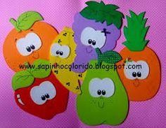 Resultado de imagen para molde de frutas em eva