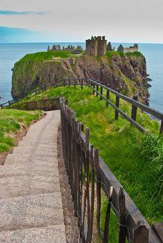 Castle in Scotland.  Disney movie Brave
