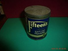 """LIVE TIN OF 50 """"FIFTEENS"""" CIGARETTES FROM THE 1940s 