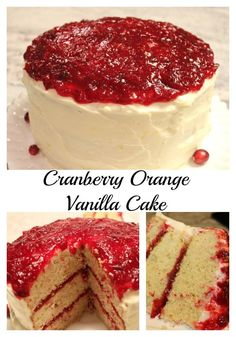 Cranberry Orange Vanilla Cake