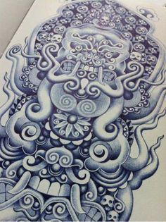 Bic Pen Drawings by Erik Den Haag