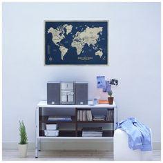 Pôster Mapa-Múndi A1