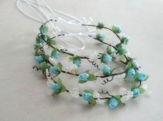 Blue Hair Accessories Tiffany Aqua teal rose flower by AmoreBride, $34.00