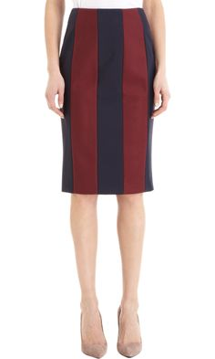 Kenzo Striped Pencil Skirt