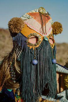 Juxtapoz Magazine - Cosmic Costumes from Bunnie Reiss Textiles, Masks Art, Reiss, Mode Inspiration, Mode Style, Mask Design, Headdress, Costume Design, Wearable Art