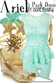 Disneyland (California Adventure Paradise Pier) & Disneyworld (Fantasyland) - The Little Mermaid - Ariel's Park Dress