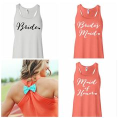 MANY COLORS Bridal Party Tank Tops / by BridalBlissCouture on Etsy