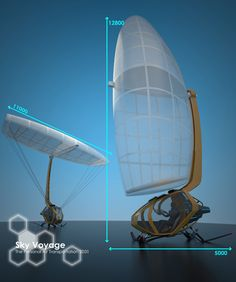 Sky Voyage (The hybrid glider/airship can take off vertically by inflating the…
