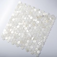 White Square Groutless Pearl Shell Tile | Mosaic wall tiles ...
