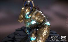 "ArtStation - Talos - Ingame model for Gameloft's project: ""Gods of Rome"", Thanos Bompotas"