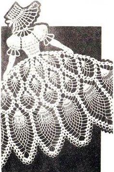Crochet Pattern Vintage PINEAPPLE SUNBONNET GIRL Chair Back Set | hollywoodpatterns - Crochet/Knitting on ArtFire
