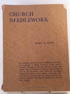 Church Needlework vintage book by Hinda M. Hands