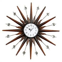 """24"""" Sun Theme Retro Iron Wall Clock with Acrylic Crystal - See more at: http://www.homelava.com/en-24-quot-sun-theme-retro-iron-wall-clock-with-acrylic-crystal-nbsp-p1319.htm#sthash.Q3sQavS5.dpuf"""