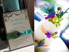 Peacock Wedding Invitation & Cake