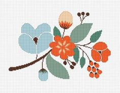 Floral Motif cross stitch pattern