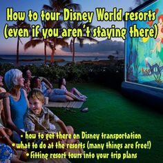 Disney World Tips - Definitely don't miss out on touring the Deluxe Disney World Resorts if you have the time.  They're amazing!