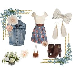 """this is my inner girly girl outfit, its a cute little outfit for a date or a fun hangout day with your friends! im a total tomboy but who says we can't look nice once in awhile  #1"""" by allisentrejo on Polyvore"""