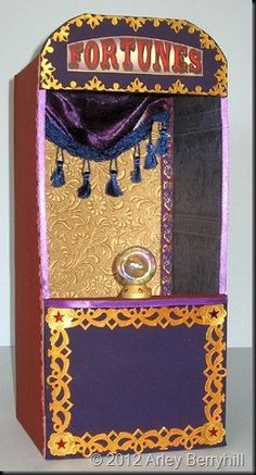 A fortune teller booth add fortune cookies and and have someone insde to handout Make out of cardboard boxes or build out of wood and some paint old tassels off drapes or craft store and whal-la presto magic there you go Casa Halloween, Halloween Circus, Theme Halloween, Halloween 2017, Holidays Halloween, Halloween Crafts, Happy Halloween, Halloween Cubicle, Halloween Witches