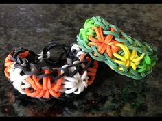 ▶ DIY B&C : Starburst Bracelet Without A Loom - YouTube
