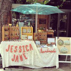 jessica jane handmade // craft show booth display. very rockin'