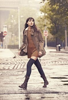 @Natalie Jost Suarez in #Timberland Earthkeepers Savin Hill Mid Boot.. oh i'm so getting these. LOVE them!