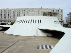 Oscar Niemeyer, Sun Lounger, Modern Architecture, Brazil, Temple, Concrete, Brick, France, Explore