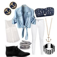 nautical outfit - but golden accessories only please! ;)