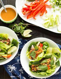 These lettuce wraps are light, refreshing, and taste amazing dipped in the ginger peanut sauce. Get the recipe here.