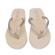 b897b2435e6f Mosunx TM Women Summer Flip Flops Shoes Sandals Slipper indoor outdoor  Flipflops slippers 38 Beige