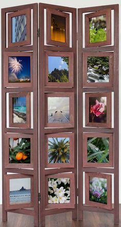 Photo Wall Room Divider Screen