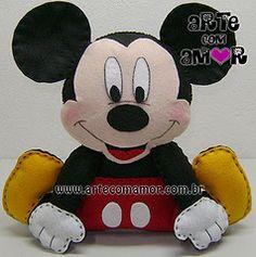 molde mickey mouse feltro - Pesquisa Google                                                                                                                                                      Más