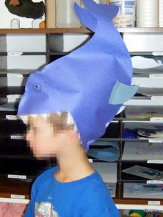 Shark craft hat.