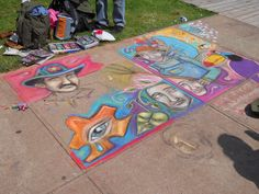 Sidewalk art Picnic Blanket, Outdoor Blanket, Sidewalk Art, Photography, Sidewalk Chalk Art, Photograph, Fotografie, Picnic Quilt, Fotografia