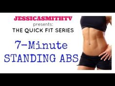 Abs, Belly Fat, Weight Loss: 7-Minute Full Length Standing Abs Workout - YouTube