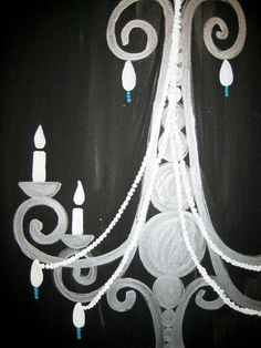 Chandelier Painting  - All paintings are taught at Painting and Pinot - Baton Rouge