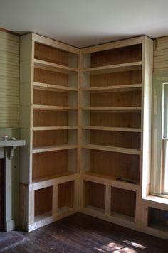 Trendy Home Office Bookshelves Built Ins Window Seats Custom Bookshelves, Corner Bookshelves, Bookshelf Design, Built In Bookcase, Building Bookshelves, Bookcases, Bookshelf Ideas, Bookshelf Styling, Home Library Design