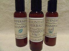 2oz All Natural Botanical Shampoo by MaineMountain on Etsy, $4.49