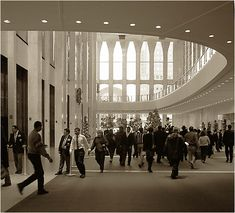 Pictures of the interior of the old World Trade Center.