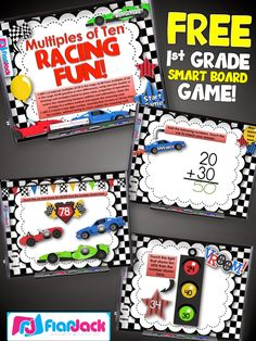 Ten More or Less Smart Board Game FREEBIE