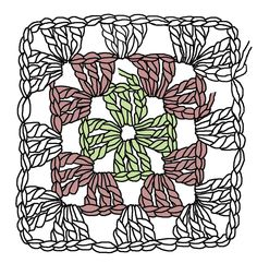 The Humble Granny Square – Renate Kirkpatrick's Freeform Crochet~Knit~Fibre Designs – Granny Square Motif Mandala Crochet, Granny Square Crochet Pattern, Freeform Crochet, Crochet Squares, Crochet Granny, Crochet Stitches, Crochet Patterns, Crochet Blocks, Afghan Patterns