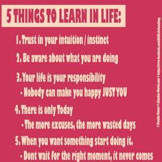5 Things to learn in Life by Akashic-World.com