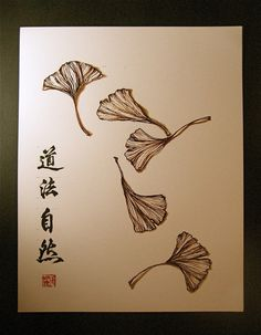 Ginkgo Leaf Tattoo Meaning Ginko Tree, Gingko Leaf, Mini Tattoos, Leaf Tattoos, Bonsai Tattoo, Blatt Tattoos, Asian Cards, Japanese Quilts, Botanical Tattoo
