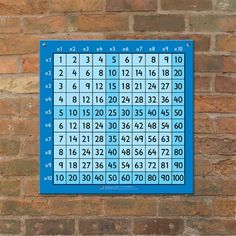 Outdoor grid - Big multiplication grid