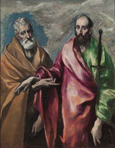 Saint Peter and Saint Paul / San Pedro y San Pablo // 1590-1600 // Doménikos Theotokópoulos (El Greco) // Museu Nacional d'Art de Catalunya